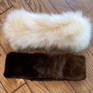 Faux Fur Head Bands Ear Covers Winter Warm